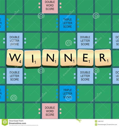 le in scrabble gagnant de scrabble photographie stock libre de droits