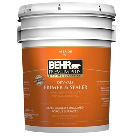 home depot paint and primer in one colors behr premium plus 5 gal interior drywall primer and