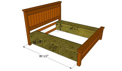 how to build bed frame how to build a bed frame with drawers howtospecialist
