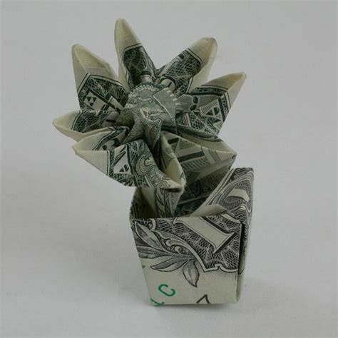 origami dollar flower flower in pot money origami
