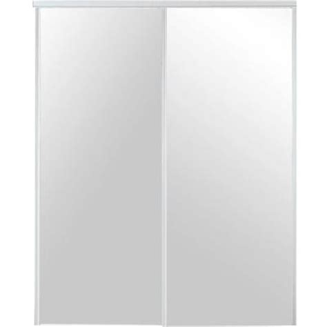 home depot mirrored closet doors truporte 48 in x 80 in 230 series white mirror interior