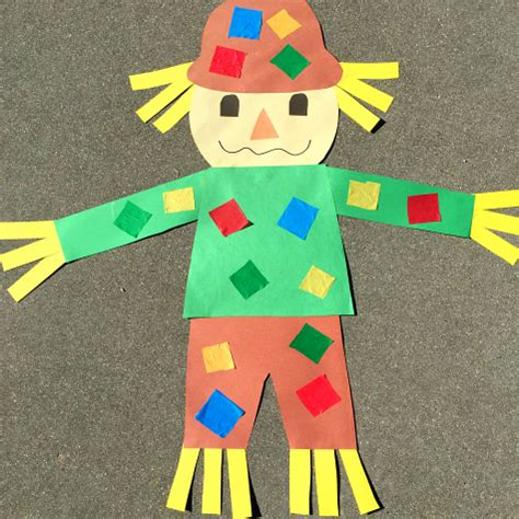craft projects for kindergarten scarecrow project