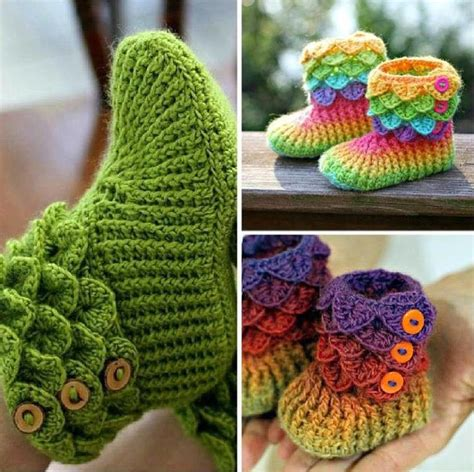 how to knit booties for adults adorable crocodile stitch crochet booties pattern
