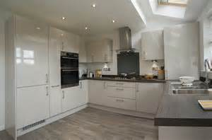 Design Ideas For Galley Kitchens fairwood kitchen gloss cashmere panorama kitchens