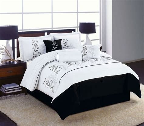 black and white comforter sets king 7pc king size bedding comforter set black white winter