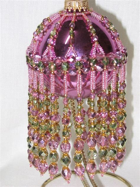 beaded bauble pattern 5386 best images about beading ornaments