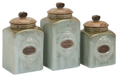 coffee kitchen canisters coffee sugar tea retro blue ceramic canisters set of 3