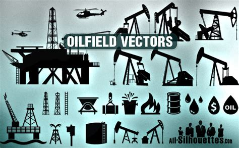 vector oilfield clipart all silhouettes