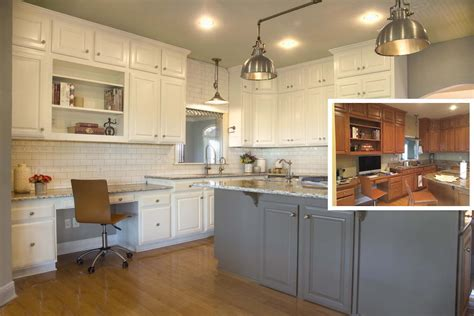 kitchen counters and cabinets painting kitchen cabinets before or after changing the