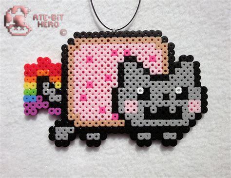 perler ebay nyan cat necklace bead sprite perler ate bit ebay