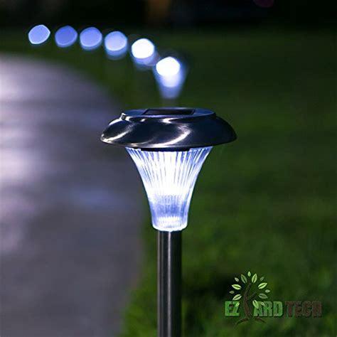 landscape lighting lumens set of 10 6 lumen brightness stainless steel solar powered garden lights led outdoor garden