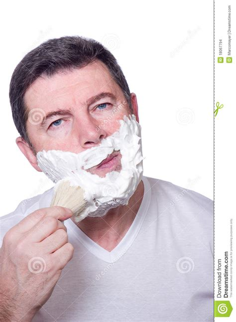 how to put in your beard putting beard foam stock images image 18067794