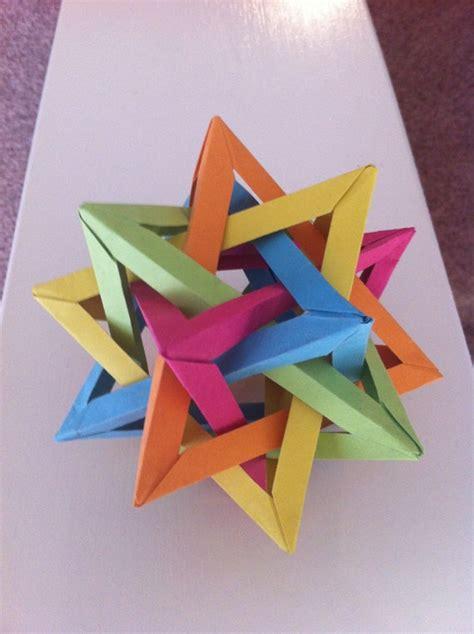 origami five intersecting tetrahedra origami five intersecting tetrahedra by foldsbyalex on