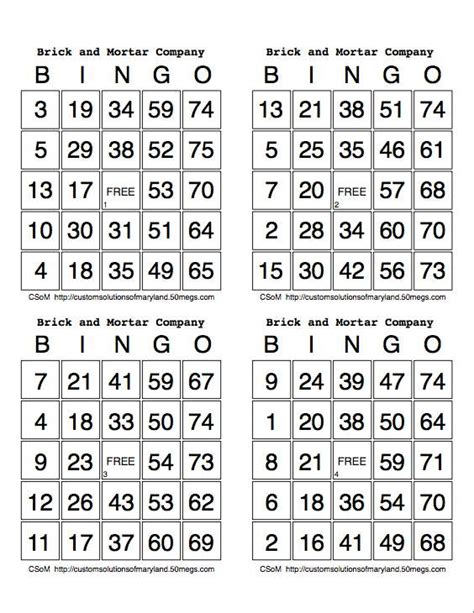 how to make bingo cards with numbers best photos of print bingo cards 4 sheet printable bingo