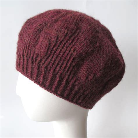 beret knitting pattern needles knit pattern beret knits prints