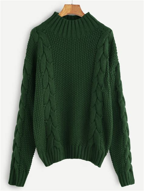 green cable knit sweater green cable knit turtleneck sweater