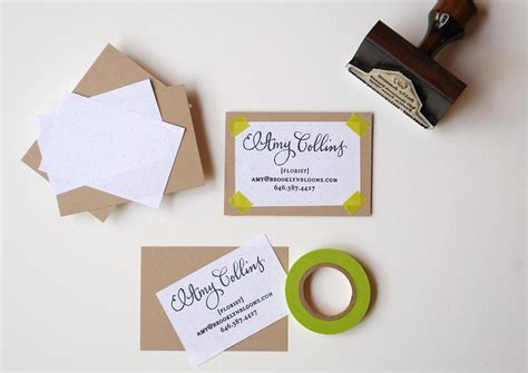 business card rubber st diy rubber st calling cards