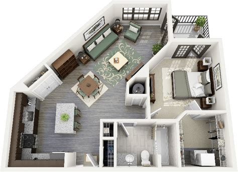 one bedroom apartment designs uniquely shaped 1 bedroom apartment interior design ideas