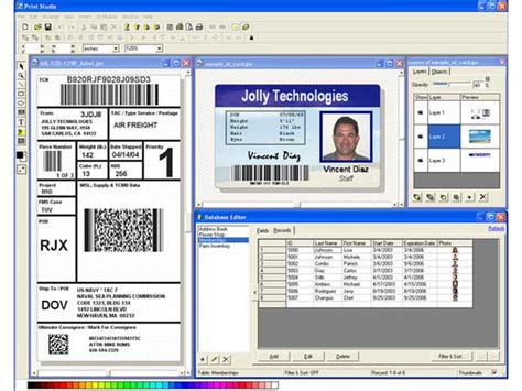 free software for card print studio photo id card software 2e 1 0