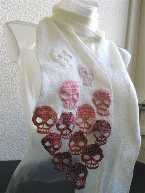 skull scarf knitting pattern 1000 images about crochet knit skulls bones on