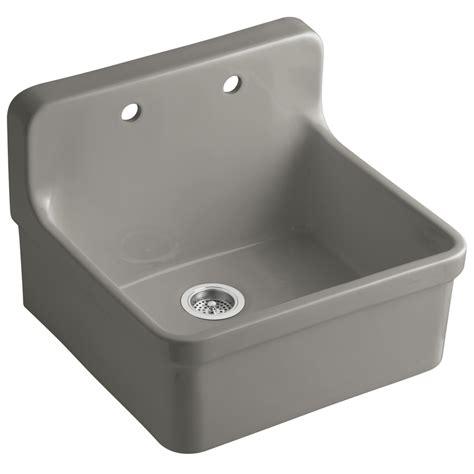 kohler kitchen sinks porcelain shop kohler gilford single basin drop in porcelain kitchen
