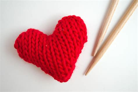 knit tricot free pattern knitted hearts the us uk