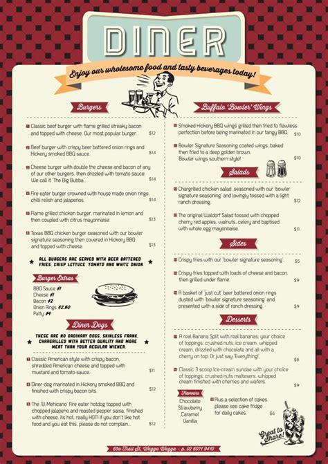 25 best ideas about diner menu on pinterest menu design