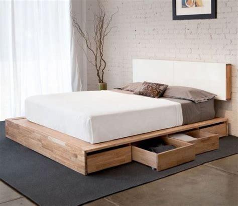 diy platform bed frame houten bed met lades i my interior