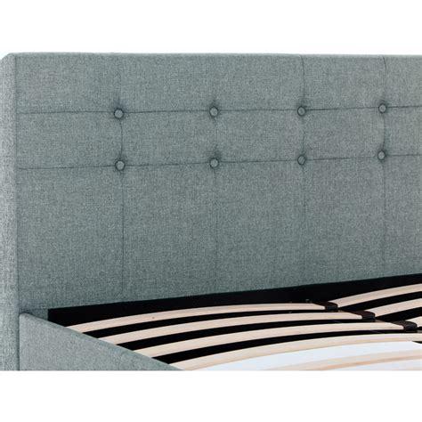 king size upholstered bed frame henrik king size upholstered bed frame in grey buy king