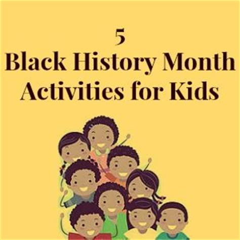 black history month crafts for 5 black history month activities for celebrate