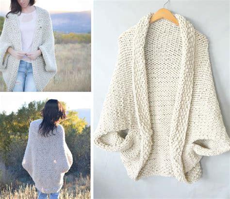 knit shrug pattern cocoon shrug knitting pattern free tutorial easy
