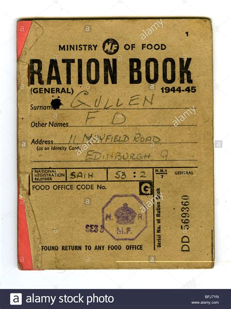 pictures of ration books ration book 1944 45 issued by the ministry of food
