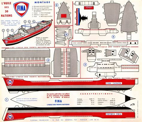 boat paper craft schiff tanker moi bateaus ships and boats