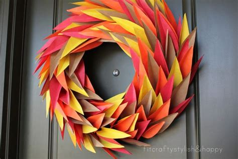 thanksgiving crafts with construction paper 9 thanksgiving wreaths that will put your home the top