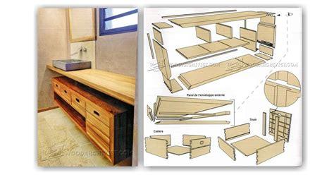 bathroom vanity woodworking plans bathroom vanity plans woodarchivist