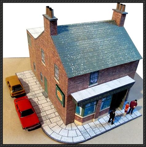 paper craft home rovers return inn free building paper model