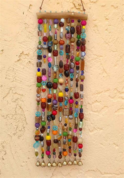 diy beaded wind chimes beaded wind chime and suncatcher on mesquite with bells garden