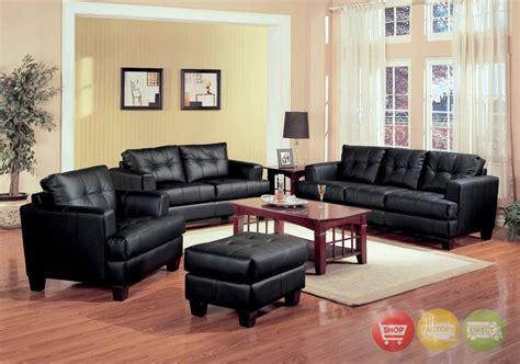leather living room furniture samuel black bonded leather living room sofa and loveseat