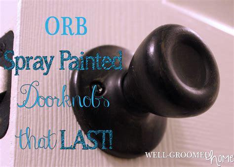 spray paint door knobs updating door knobs with spray paint well groomed home