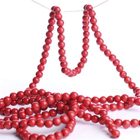 bead garland cranberry bead garland garlands