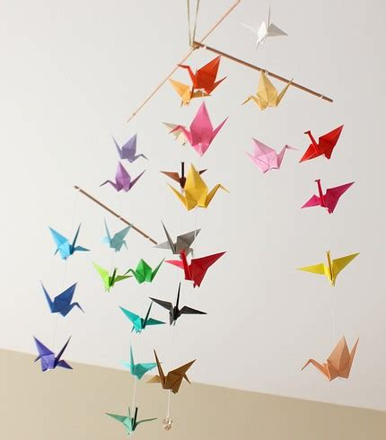 origami mobile juneberry tutorial tuesday origami crane magic
