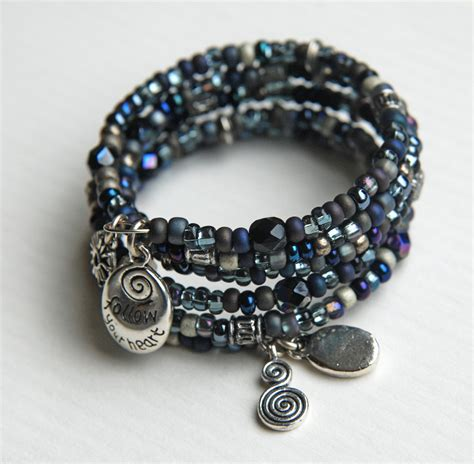 how to make a beaded bracelet with wire totally twisted bangles memory wire bracelet