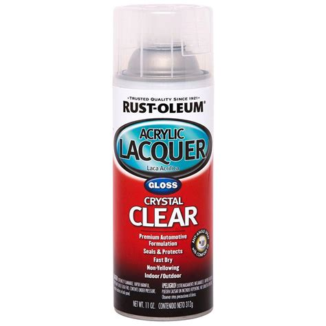 home depot paint rust rust oleum automotive 11 oz clear gloss acrylic lacquer