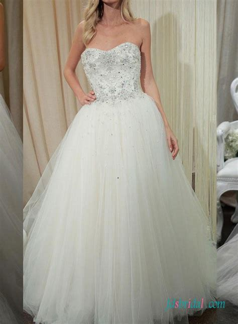 sparkly beaded wedding dresses h1422 sparkly beaded lace bodice princess gown
