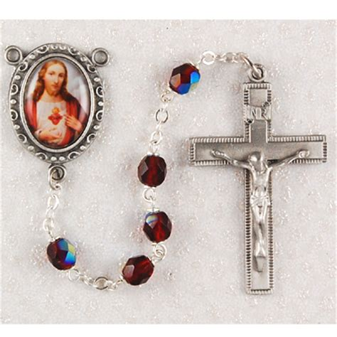 sacred rosary rosary with sacred of jesus center