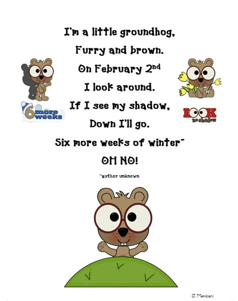 groundhog day poetry grade gallery lessons for learners