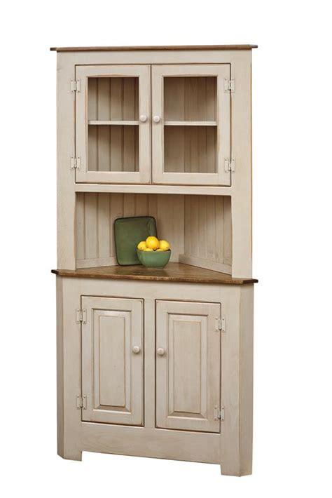 corner kitchen hutch furniture farmhouse pine wood corner hutch dutchcrafters amish furniture