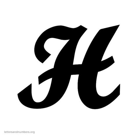 free h 6 best images of cursive letter h printables free