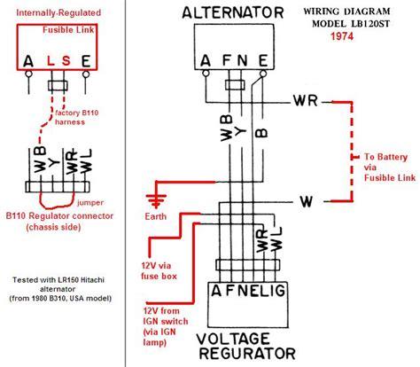 1974 alternator wiring diagram external regulator 49