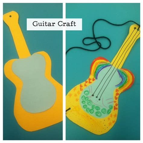 paper guitar craft storytime craft easy guitar craft just poster board